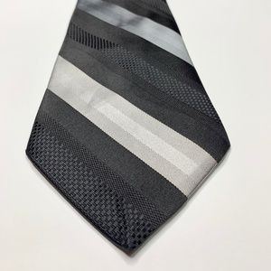 McGregor Striped Black Grey Vtg Tie Necktie